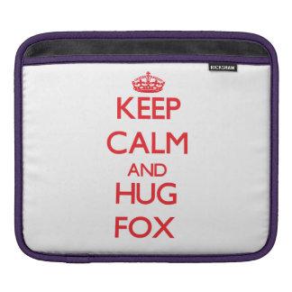 Keep calm and Hug Fox iPad Sleeves