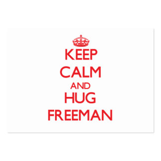 Keep calm and Hug Freeman Large Business Cards (Pack Of 100)