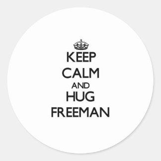 Keep calm and Hug Freeman Sticker