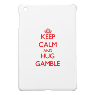 Keep calm and Hug Gamble iPad Mini Covers