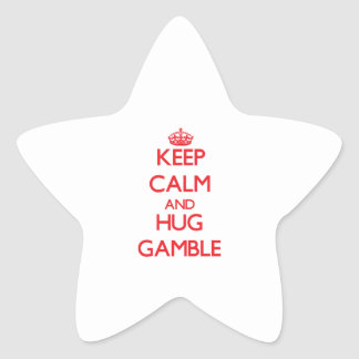 Keep calm and Hug Gamble Sticker