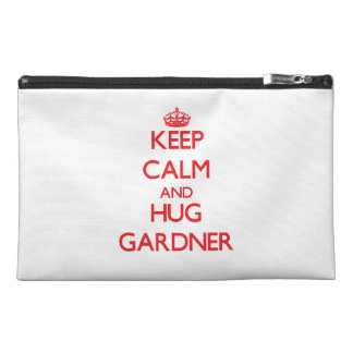 Keep calm and Hug Gardner Travel Accessory Bags
