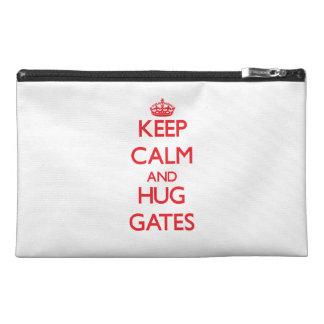 Keep calm and Hug Gates Travel Accessories Bags