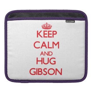 Keep calm and Hug Gibson iPad Sleeves