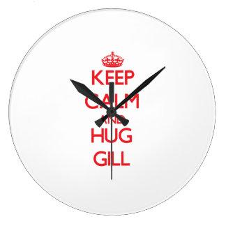 Keep calm and Hug Gill Clock