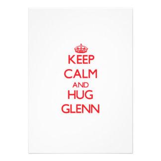 Keep calm and Hug Glenn Custom Announcements