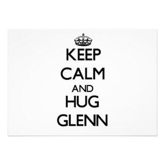 Keep Calm and Hug Glenn Personalized Invite