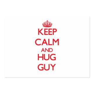 Keep calm and Hug Guy Business Card