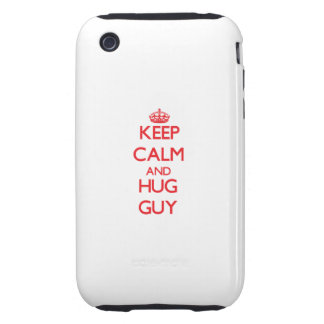 Keep calm and Hug Guy iPhone 3 Tough Cases