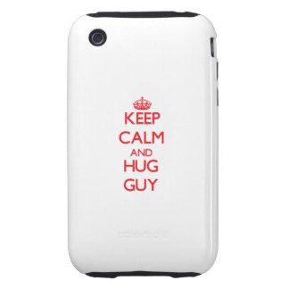 Keep calm and Hug Guy iPhone 3 Tough Cover