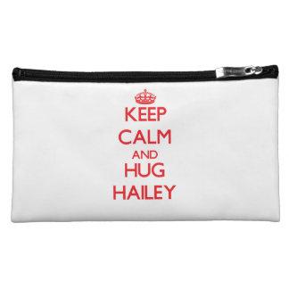 Keep Calm and Hug Hailey Makeup Bags