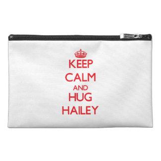 Keep Calm and Hug Hailey Travel Accessory Bags