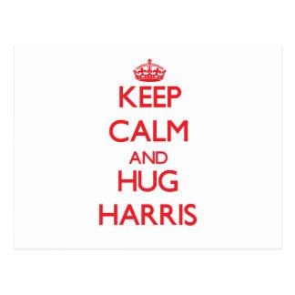 Keep Calm and HUG Harris Postcard