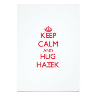 Keep calm and Hug Hayek 5x7 Paper Invitation Card