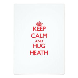 Keep calm and Hug Heath 5x7 Paper Invitation Card