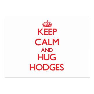 Keep calm and Hug Hodges Business Card