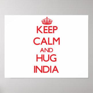 Keep Calm and Hug India Poster