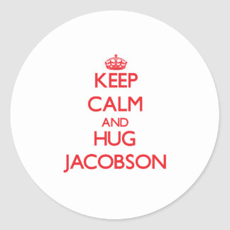 Keep calm and Hug Jacobson Round Stickers