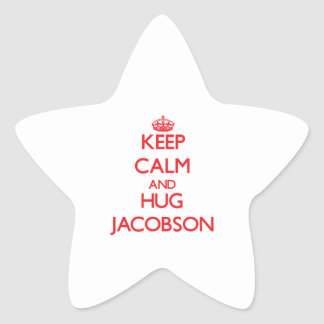Keep calm and Hug Jacobson Star Stickers