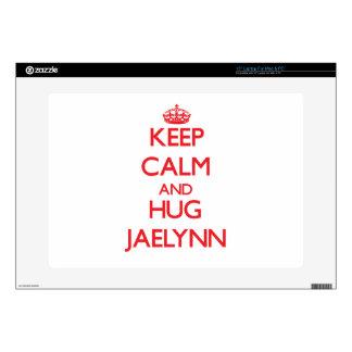 "Keep Calm and Hug Jaelynn 15"" Laptop Skin"