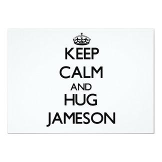 Keep Calm and Hug Jameson 5x7 Paper Invitation Card