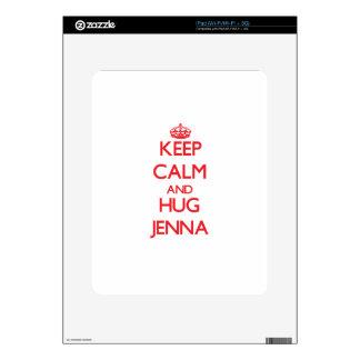 Keep Calm and Hug Jenna iPad Skins