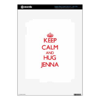 Keep Calm and Hug Jenna Skin For iPad 3