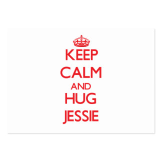 Keep Calm and Hug Jessie Large Business Cards (Pack Of 100)