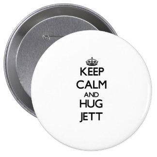 Keep Calm and Hug Jett Button
