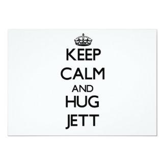 Keep Calm and Hug Jett 5x7 Paper Invitation Card