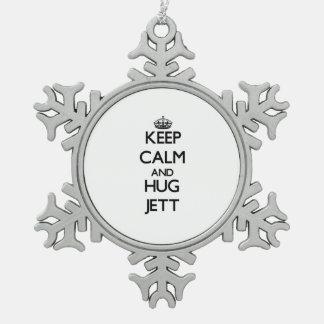 Keep Calm and Hug Jett Ornament