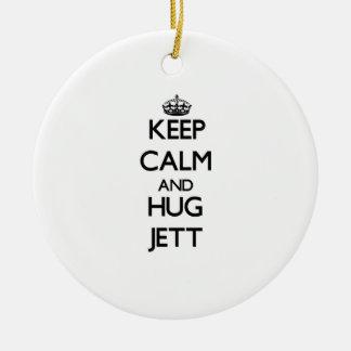 Keep Calm and Hug Jett Christmas Tree Ornaments