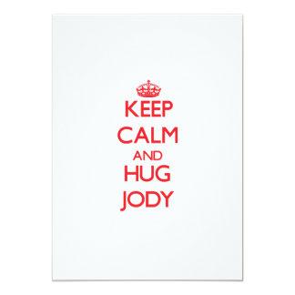Keep Calm and HUG Jody Personalized Invite