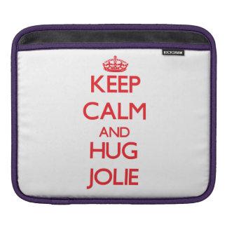 Keep calm and Hug Jolie Sleeve For iPads