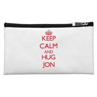 Keep Calm and HUG Jon Cosmetic Bags