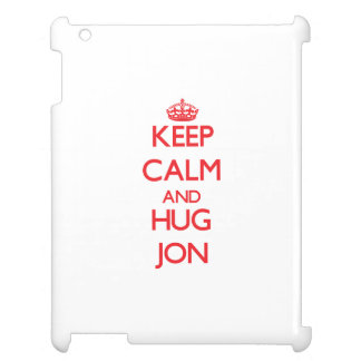 Keep Calm and HUG Jon iPad Cover