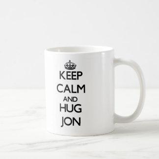 Keep Calm and HUG Jon Coffee Mug