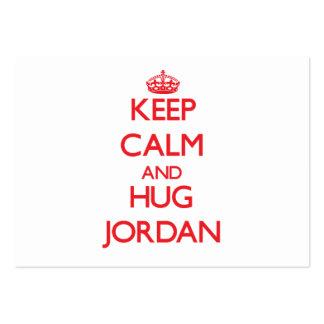 Keep calm and Hug Jordan Business Card