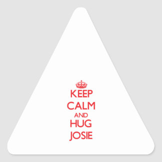Keep Calm and Hug Josie Triangle Stickers