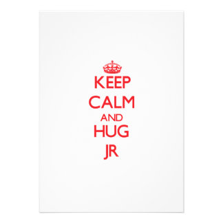 Keep calm and Hug Jr Personalized Invitations