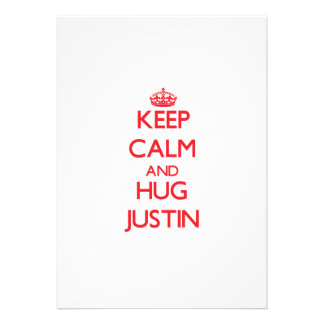 Keep Calm and HUG Justin Announcements