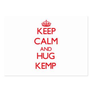 Keep calm and Hug Kemp Business Card Templates