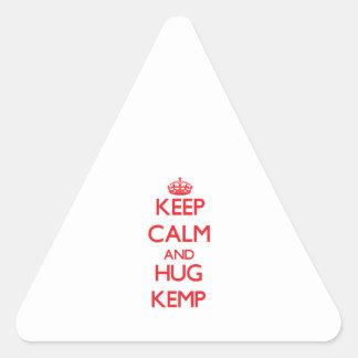 Keep calm and Hug Kemp Triangle Sticker