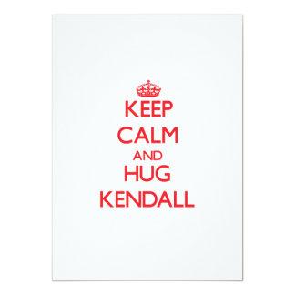 Keep Calm and HUG Kendall Custom Invitation
