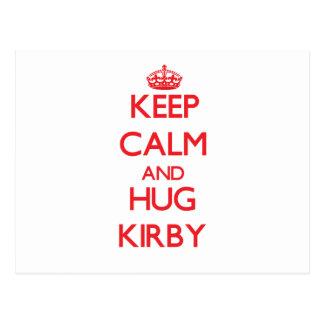 Keep Calm and HUG Kirby Postcard