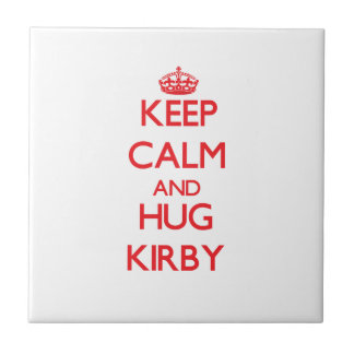 Keep calm and Hug Kirby Tile