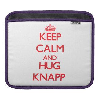 Keep calm and Hug Knapp iPad Sleeves