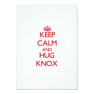 "Keep calm and Hug Knox 5"" X 7"" Invitation Card"