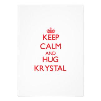 Keep Calm and Hug Krystal Announcements