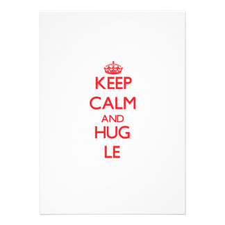 Keep calm and Hug Le Personalized Announcements